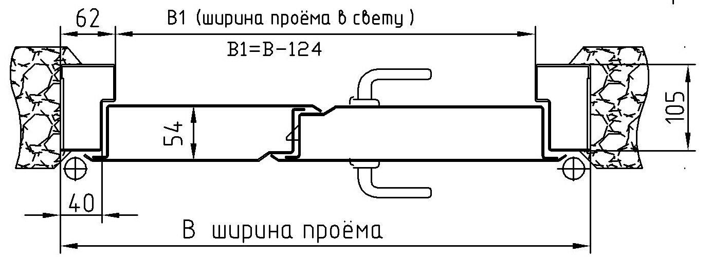 схема противопожарной двери