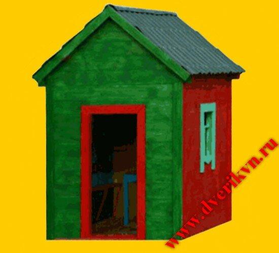 Детский игровой домик д 01 деревянный
