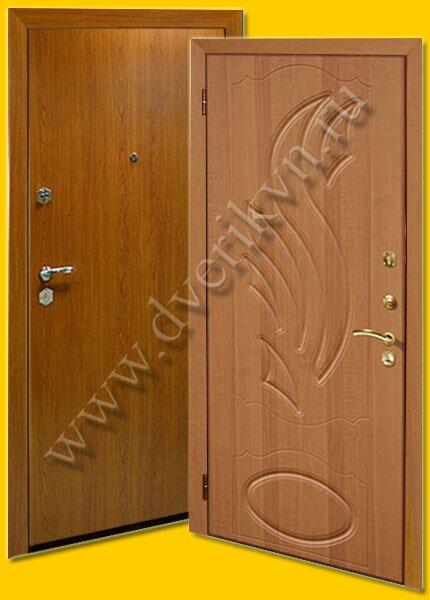 металлические двери пвх ламинат
