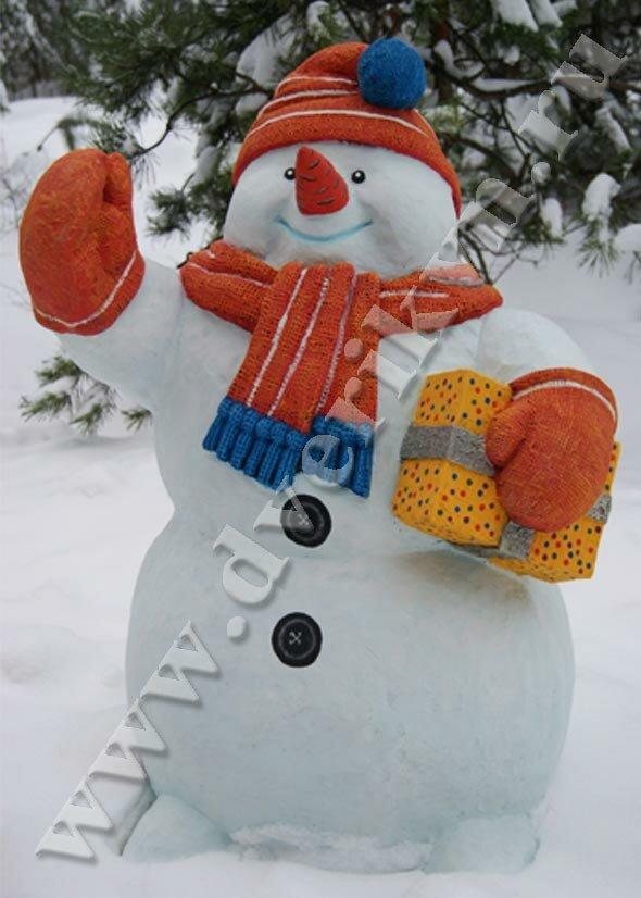 Как большого снеговика в картинках - Снеговик своими руками. 6 пошаговых мастер классов