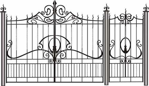 кованые образцы ворота - фото 6